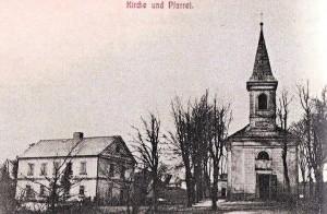 Kostel Povýšení svatého Kříže obce Pavlův Studenec (Paulusbrunn)
