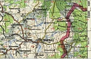 Poloha pohraniční roty - mapy